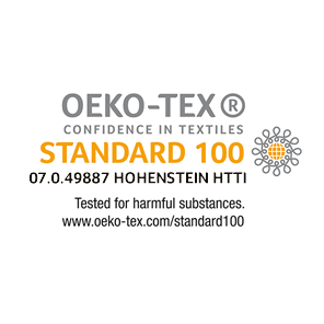 The STANDARD 100 by OEKO-TEX® is a worldwide consistent, independent testing and certification system for raw, semi-finished, and finished textile products at all processing levels, as well as accessory materials used. Examples of articles that can be certified: raw and dyed/finished yarns, woven and knitted fabrics, accessories, such as buttons, zip fasteners, sewing threads or labels, ready-made articles of various types (garments of all types, domestic and household textiles, bed linen, terry products and much more).