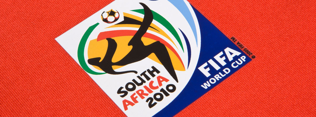 FIFA World Cup South Africa 2010 Logo printed with Flex P60F the comfortable soft Flex-Transfer for breathable rainwear