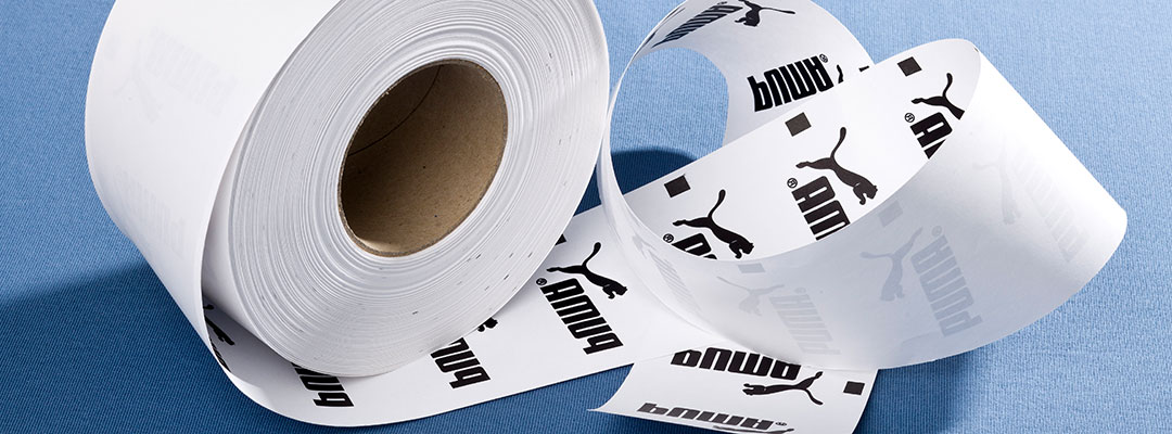 Puma Labels Printed with Roll-Flex the Efficient Flex Transfer System for Small Formats in Long Runs
